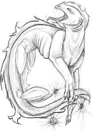 sea monster sketch commish by secretssecret on deviantart