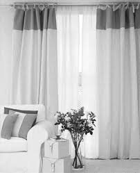 Nursery Blackout Curtains Uk by White And Grey Curtains In The Living