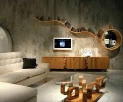 creative wooden bookshelf for wall decor idea in contemporary
