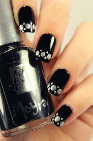 pretty black nail art arts