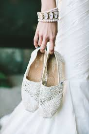 15 ways to wear flat shoes at your wedding lace toms white lace