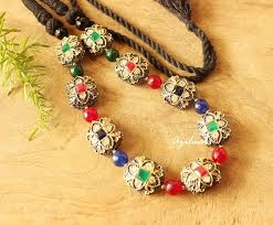 beaded necklace photos images Antique beaded necklace ethnic necklace jewelry for saree online jpg