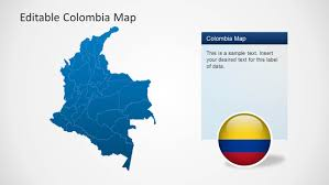 Colombian Map Colombia Map Template For Powerpoint Slidemodel