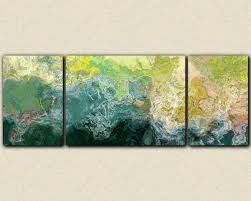 oversized triptych abstract art 30x80 to 34x90 canvas print