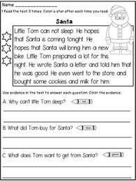 free christmas printable worksheets reading comprehension
