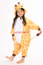 Apple Halloween Costume Baby Children Animal Pajamas Cartoon Pajamas Giraffe Kids Pajama