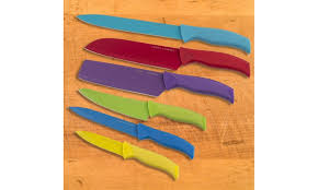colorful kitchen knives emeril lagasse non stick colorful knife set 12 groupon
