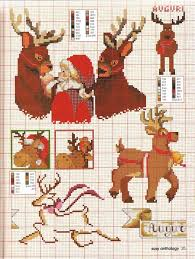 196 cross stitch reindeer images christmas