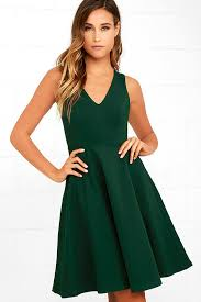 green dress green dress midi dress skater dress sleeveless dress