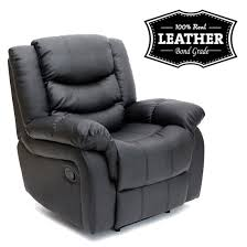 Reclining Armchairs Living Room Seattle Leather Recliner Armchair Sofa Home Lounge Chair Reclining