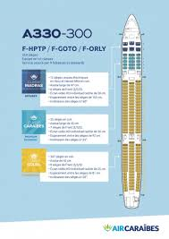 reserver siege air plan cabine de notre airbus a330 300 air caraïbes