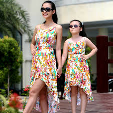 family matching mother daughter clothes summer dress for women big
