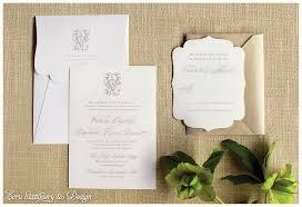 carlton wedding invitations ritz carlton plantation monogram die cut invitation by