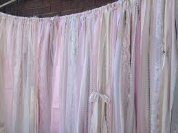wedding backdrop fabric blush garland pink ivory wedding fabric lace rag garland