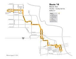 Grove City Outlet Map Dart Local Route 14 U2013 Beaver Avenue U2013 Dart Local Bus Routes
