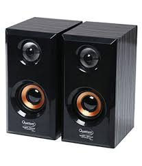 home theater system snapdeal buy quantum qhm630 2 0 speakers black and brown online at best
