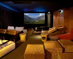 Interior Extraordinary Home Theater Room Design Ideas With Brown