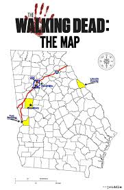 Northeast Georgia Map The Dig The Geography Of The Walking Dead