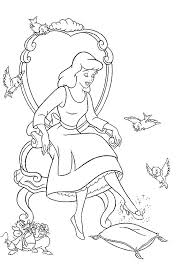 coloring cinderella coloring pages 12