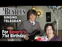 singing telegram birthday a beatles birthday singing telegram for beverly las vegas