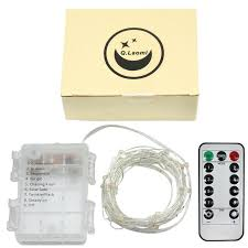micro silver wire lights ip65 battery lights timer function