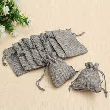 small burlap bags 10pcs grey burlap bags jute hessian drawstring sack small wedding