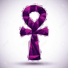 imagenes egipcias para imprimir violeta símbolo ankh palabra egipcia para la vida icono geométrico