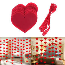 day decorations bestoyard 16pcs hanging heart string valentines day decorations