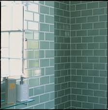 green tiles shower areas wall combined by bathroom mirror with