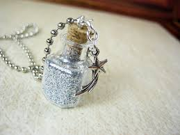 glass star pendant necklace images Stardust glass bottle necklace star dust glass vial square jpg