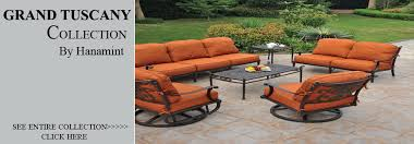 Tuscany Outdoor Furniture by View All Hanamint Grand Tuscany Cast Aluminum Patio Furniture Sets