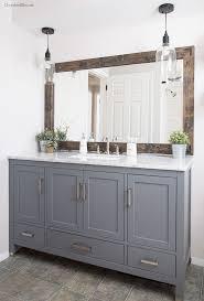 Update Bathroom Mirror by Moulding Around Bathroom Mirror