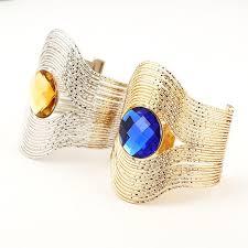 cuff bracelet girl images Vintage curved ethnic cuff bracelet gold bohemian statement jpg