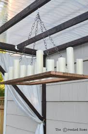 Outdoor Chandelier Diy Remodelaholic How To Make Your Own Rustic Candle Outdoor Chandelier