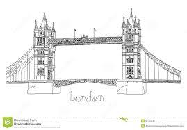 vector illustration of tower bridge london stock illustration