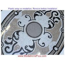 pompeii 36 x 48 oval mosaic floor medallion honed