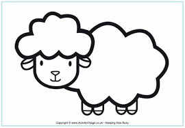 Sheep Colouring Pages