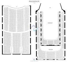 boston symphony hall seating chart theatre seating chart