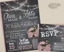 jar wedding invitations rustic jar wedding invitation blush chalkboard wedding