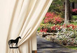 How To Install Curtain Tie Backs Horseshoe Curtain Tiebacks Western Window Treatments