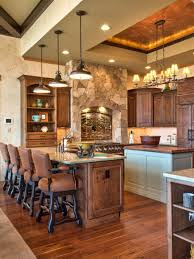 kitchen design ideas rustic kitchen lighting stone with country