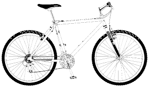 real cool bicycle coloring page coloring pages to print color