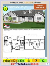 Cape Cod Floor Plans With Loft Manchester All American Modular Home Cape Cod Collection Plan Price