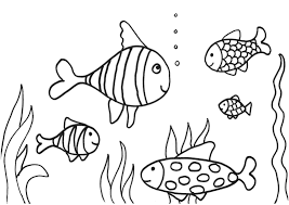 printable fish cutouts treatscom pattern template cut out