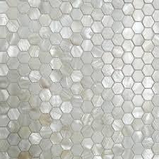 mosaics hexagon kitchen backsplash tiles mother of pearl tile