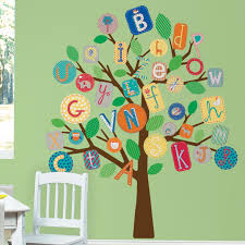 room mates abc tree giant wall decal reviews wayfair room mates abc tree giant wall decal