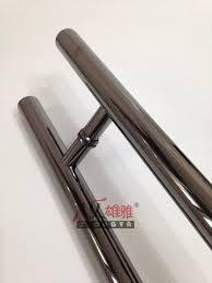 glass door pull handle online cheap high grade titanium black glass door pull handle