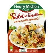 plat cuisiné fleury michon fleury michon pâtes poulet ricotta épinards monoprix fr