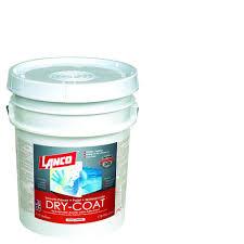 lanco dry coat 5 gal white and paste satin acrylic latex interior