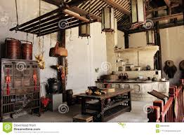 Traditional Style Kitchens Chinese Traditional Style Kitchen Royalty Free Stock Photo Image